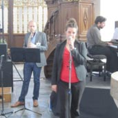 Jazztrio Elisabeth Paarlberg, sopraan, Ries Companjen, saxofoon, Rolf Harkes, piano