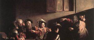 De roeping van Matteüs ~ Caravaggio